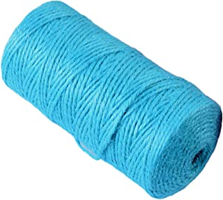 Bomcomi Hemp Rope Colorful Natural Jute Twine String Roll Hemp Natural jute Cord for DIY Art Crafts and Wrapping Blue