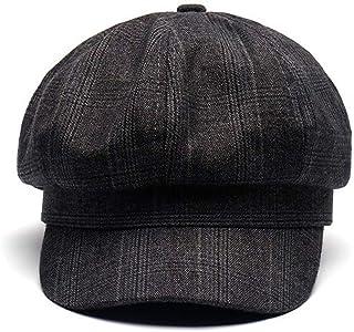 uniunitwo Spring Cotton Beret Women's Cap Fashion Classic England Style Vintage Artist Hat (Grey)