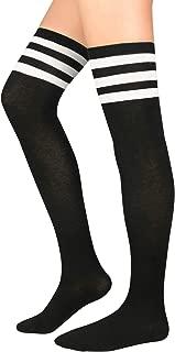 Womens Thigh High Socks Cotton Tube Thigh High Stockings Super Cute Knee High Stockings Long Leg Warmers
