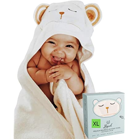 Ultra Soft Organic Baby Bath Towel Blue Infants and Toddlers laise vie Bamboo Baby Hooded Towel Ultra Absorbent Baby Towels for Babie Newborns Perfect for Baby Shower Boys and Girls
