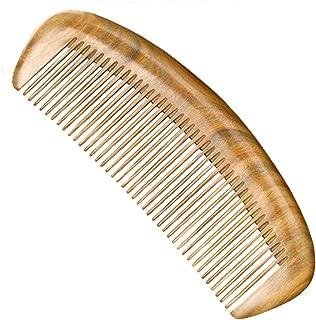 GLAKCO Wooden comb,Handmade Natural Sandalwood Hair Combs,Anti-Static Sandalwood Scent Natural Hair Detangler Comb (Arc)