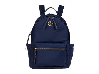 Tory Burch Piper Zip Backpack (Royal Navy) Backpack Bags