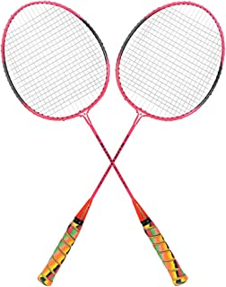 Guru CLS 350 BS07 Pack of Two Racket Badminton Set, Size 27 Inch With Cover