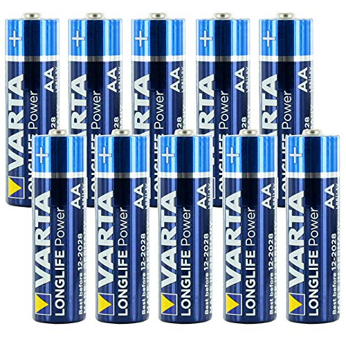 (10-PACK) Varta V4906 LONGLIFE Power AA Alkaline Battery Replaces LR06, Duracell MN1500, R06P, SUM4, LR6, LR6A, HP7, Rayovac 815, AA, Panasonic AM3, Energizer Ever Ready E91, MIGNON, STILO