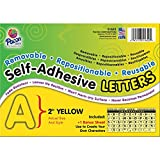 Pacon Self-Adhesive Reusable Letters, 2 Inches, Yellow, 159 Pieces