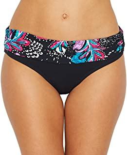 Floral Pattern Fold-Over Band Swimsuit Bottoms