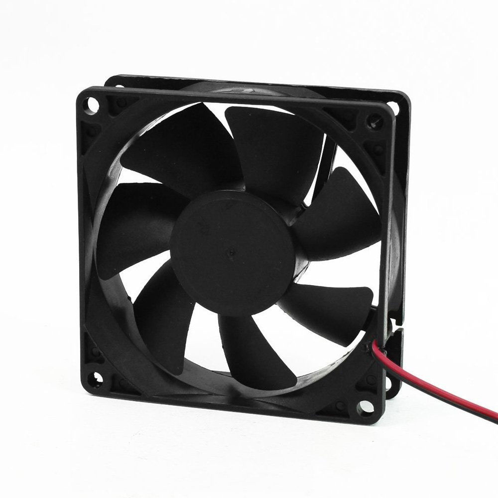 Austin Mall Exanko R 12V Black 80mm Max 47% OFF Square for Plastic Computer Fan Cooling