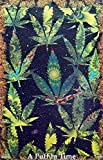 HommomH 60' x 80' Blanket Throw Comfort Warmth Soft Plush Throw for Couch A Puff in Time Weed Ganja Marijuana