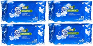 White Cloud Lightly Scented w/Aloe Wet Wipes (4 Pack)