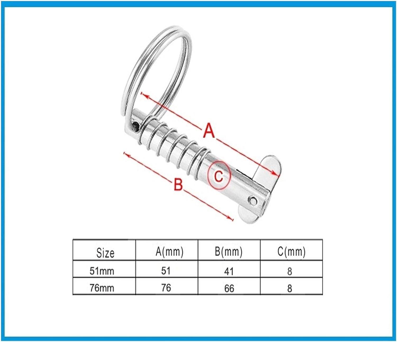 Length : 76mm LWZZDZ 2 8mm Marine Grade 316 Stainless Steel Quick Release Pins Deck Hinge Marine Hardware