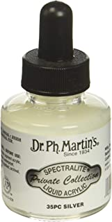 Dr. Ph. Martin's SPEC10OZS35PC Spectralite Private Collection Liquid Acrylics (35PC) Arcylic Paint Bottle, 1.0 oz, Silver
