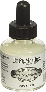 زجاجة طلاء أرسيليك من مجموعة سبيتراليتيه الخاصة من دكتور Ph. Martin's SPEC10OZS35PC، 1. 0 أونصة، فضي