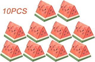 Pastry Boxes, 10 Pack Cute Watermelon Shaped Paper Bakery Boxes for Mini Cake, Cupcake, Cookie, Dessert, Donuts, Pastry - 4.3 x 4.3 x 4.3 Inch