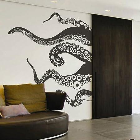 Tentacles Wall Decal Kraken Octopus Tentacles Wall Sticker Sea Animal Wall Decal Mural Home Art Decor Black