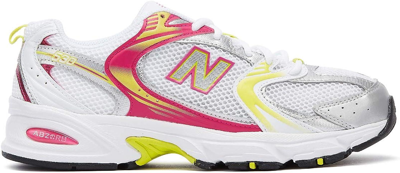 New Balance 530 Donna Bianco/Rosa/Giallo Sneaker-UK 5 / EU 37.5 ...