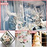artificial roses flowers 50pcs real looking faux fake roses with stems for diy wedding bouquets bridal baby shower centerpieces floral arrangements home decorations (cream, 50)