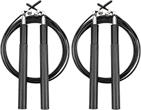 BKpearl 2 Pack High Speed Skipping Rope Fitness Adjustable Wire Jump Rope Durable Aluminum Alloy Handles for Gym Workout Home Fitness Aerobic Exercises Loss Weight Tool