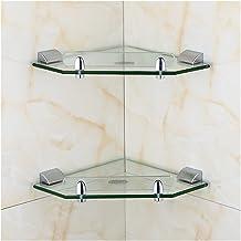 Wand-gemonteerde ontwerp multifunctionele badkamer plank Geschikt voor thuis badkamer rvs toilet plank glazen wandplank mu...