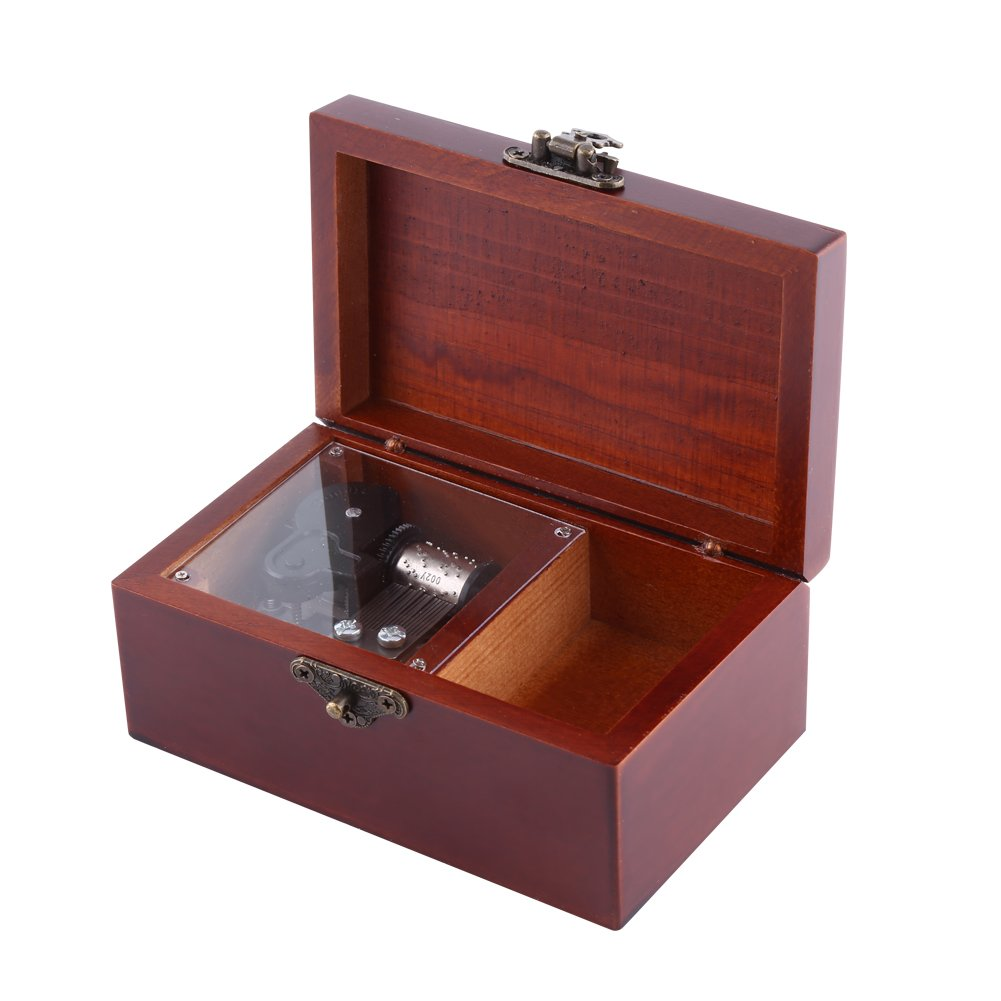 Caja de Música de 8 Nota Wind Up Caja Musical Clásica para Decoración de Hogar Regalo de Navidad Valentín(Edelweiss): Amazon.es: Hogar