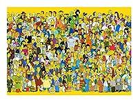ジグソーパズルシンプソンズ-クラシックアニメーション300/500/1000/1500個のパズル大人とアニメのファン向け-シュールなユーモアの家族主義-家の装飾の壁の芸術 YM963 (Color : 1500pieces)