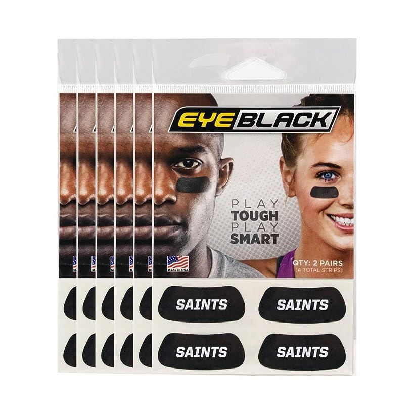 Saints Team Name Eye Black (24 Strips)