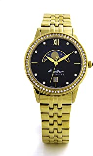 Kolber Classiques Women's Moonface Dial Gold-Plated Stainless Steel Watch - K3049223463, Analog Display