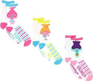 Trolls Girls Womens 3 pack Crew Socks (Little Kid/Big Kid/Teen/Adult)