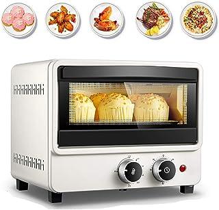 AFDK Mini horno de 12 litros, horno eléctrico de 1000 vatios, parrilla eléctrica con protector térmico y mango antiescaldaduras, calentamiento de tubo de ondas de luz, para pan, pollo, tortilla, tost