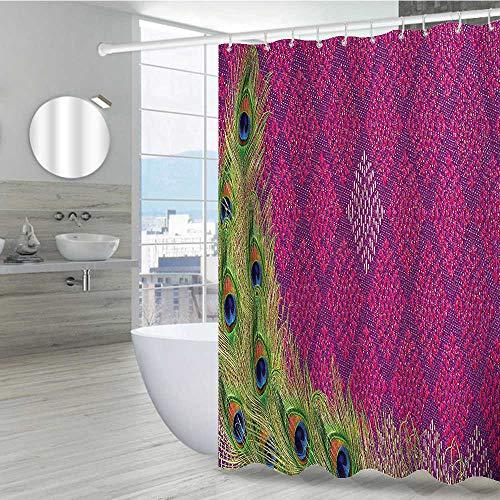 Peacock Bathroom Shower Curtains 54