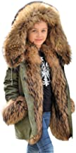Roiii Faux Fur Children Parka Jacket Coats Kids Universal Winter Coat Casual Hooded Warm Trench Outwear for Girls Boys