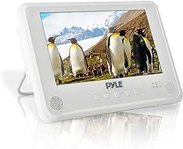 قابل پخش چند رسانه ای دیسک دیسک ضد آب قابل پخش - بلندگوهای استریو دی وی دی سفید 9 اینچی بلندگو w / بلندگوهای استریو دوگانه ، سینی دی وی دی CD ، RCA ، USB ، باتری قابل شارژ ، هدفون ، از راه دور - Pyle PLMRDV94