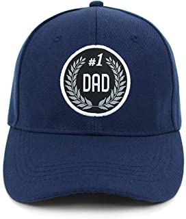 Crazy4Bling Navy Blue Baseball Cap Hat w/Embroidered #1 Dad