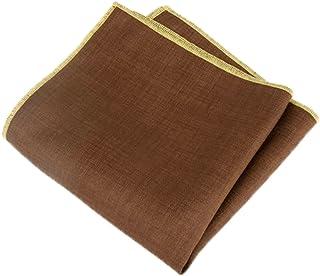 R Beige//Red Gift Box Culturi Made in Italy Wool Silk Pocket Square Original Artwork