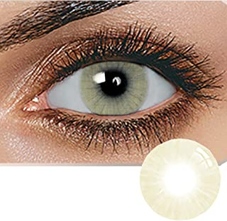Unisex Contact Lenses, Natural and Beauty Collection Cosmetic Contact Lenses, 12 Months Disposable with Case- Amber