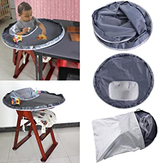 Fullfun Baby Dinner Mat Cover Waterproof Highchair Bumper Pad Place Mat, Multi-Purpose Playmat for Playing and Feeding