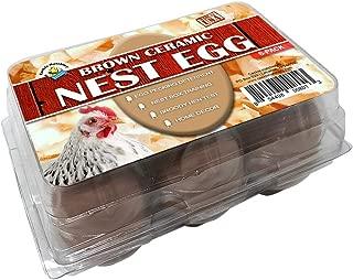 Cackle Hatchery Ceramic Nest Eggs - Brown (6 Pack)