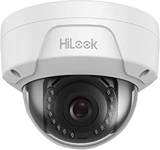 HiLook By Hikvision IPC-D121H-M 4mm Lens 2MP IP PoE Dome Network Camera Vandal Proof With 30m Night Vision - White