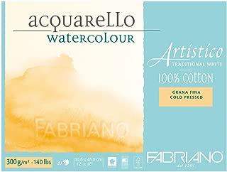 Fabriano Artistico 140 lb. Cold Press 20 Sheet Block 12x18