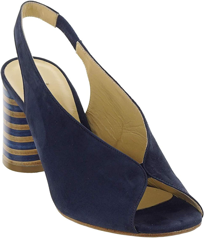 CERVONE Sandale Wildleder Blau Damen Art 2013 Made in  (Absatzhhe; 6,5 cm)