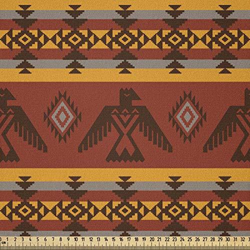 ABAKUHAUS stammtyg som metervara, ursprungsbefolkning motiv, mikrofiber tyg för dekorativa pyssel, 1 m (230 x 100 cm), cimt ringblomma grå