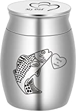 BGAFLOVE Decorative Urns, Create Your Own Assortment-Fishing in Heaven, Fish Hook Small Stainless Steel Keepsake Cremation...