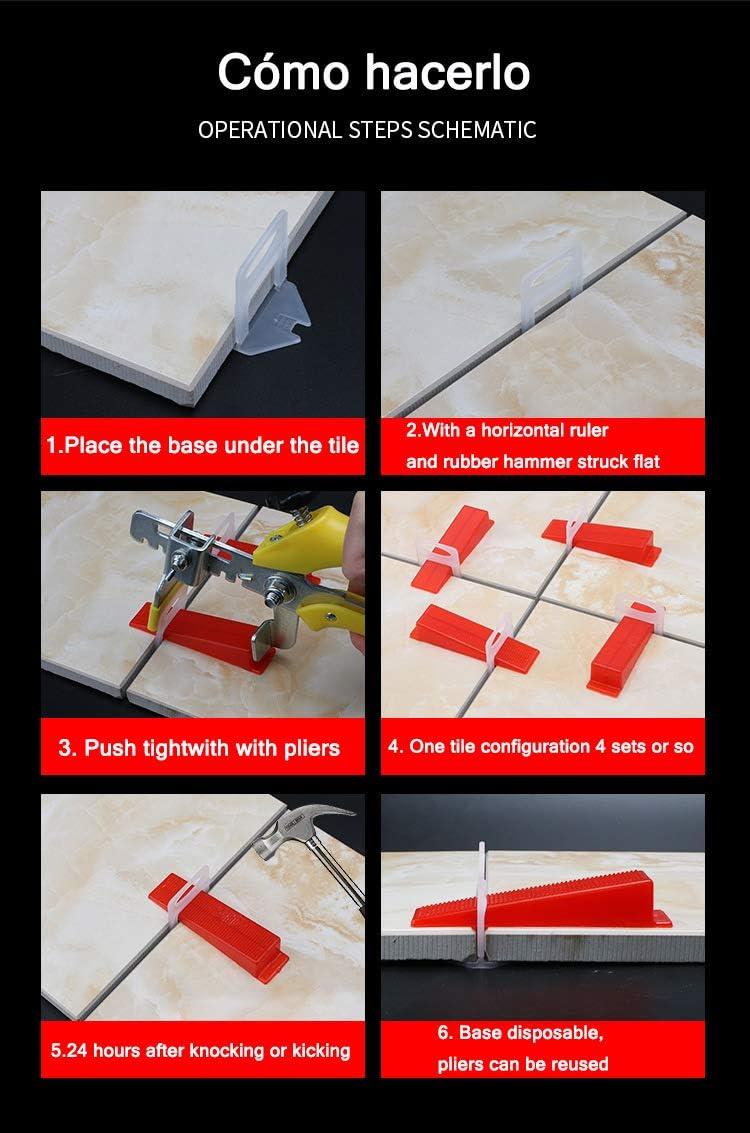 "Tile Leveling System DIY Tiles Leveler Spacers 3mm 1//8/"" 300 Piece Leveling Spacer Clips"