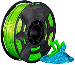 Monoprice 136279 Hi-Gloss 3D Printer Filament PLA 1.75mm - 1kg/Spool - Pale Green, Works with All PLA Compatible 3D Printers