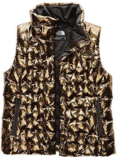 The North Face Women's Holladown Crop Vest (X-Large, Mettallic Copper)
