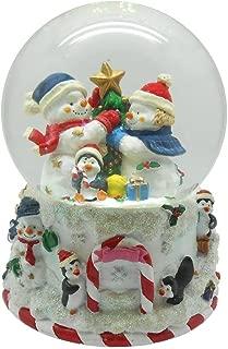 wind up christmas snow globe