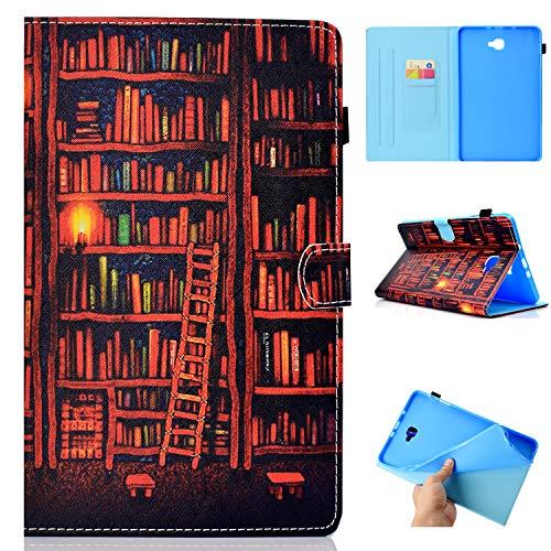 Auslbin Funda para Samsung Galaxy Tab A 10.1' T580/T585 Tablet,Ultra Slim PU Cuero Funda Flip Casos con Función de Soporte,con Auto Estela/Sueño y Ranuras de Tarjetas,Estante para Libros