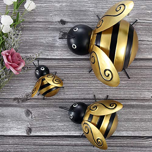 Bee Metal Wall Art, Wall Sculpture Hanging Decor for Home