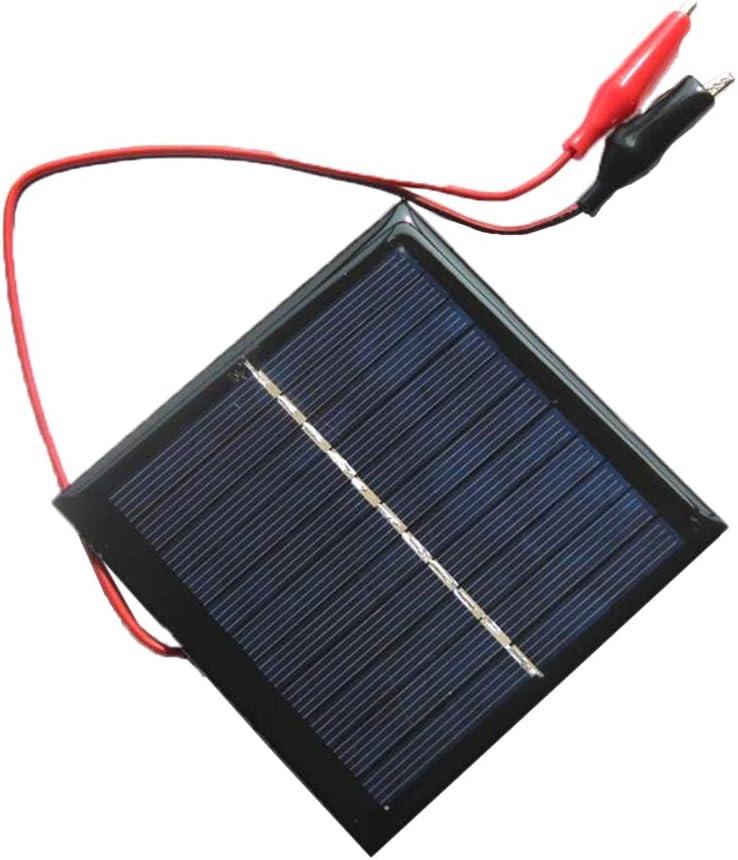 Homyl 1W Solar Panel Cell San Jose Mall Epoxy for Max 88% OFF Polycrystalline + Clip Charg