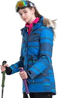 JOYS CLOTHING 冬の女性のスキージャケットマウンテン防水防風暖かいレインコートスーツ (Color : ブルー, サイズ : M)