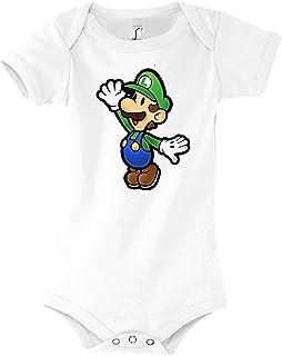 TRVPPY Baby Jungen & Mädchen Kurzarm Body Strampler Modell Luigi